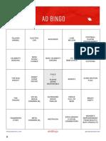 Anderson Group SB ad bingo cards