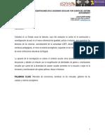 Narrativas y representaciones en el escenario escolar por cuenta del sistema sexo/género. Lucía Platero Borda. Colegio Jairo Aníbal Niño - Bogotá.
