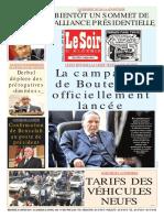 Journal Le Soir Dalgerie Du 30.01.2019