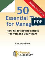 Alchemy 50 Essential Management Tips