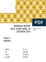 Morning Report 24 Okt 2018