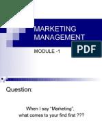 Module 1 MARKETING MANAGEMENT