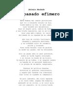 Antonio Machado - Del Pasado Efímero