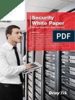 DrayTek White Paper Router Security Best Practice
