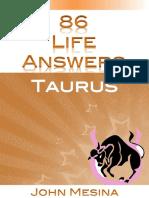 (86 Life Answers) John Mesina-86 Life Answers. Taurus-Flipside Publishing Services_Flipside Publishing (2014)
