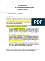 Resumo livro Ana Paula de Barcellos - Ponderação Racionalidade..docx