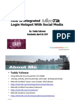 How to Integrated Mikrotik Login Hotspot With Social Media