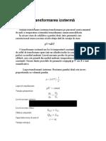 Transformarea izoterma