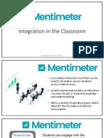 integrating mentimeter