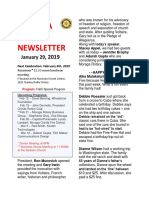 Rotary Club of Moraga Newsletter for Jan 29 2019