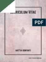 Mattia Bonfanti Cv 2019