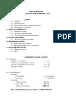 Cálculo hidráulico