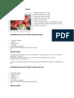 Recetas Para Uso Casero de Tomate