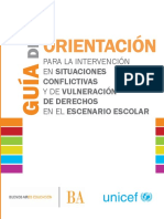 Guía de orientación para la intervención de situaciones conflictivas