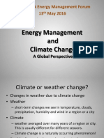 Energy Management & Climate Change