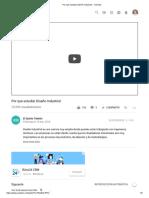 Por Qué Estudiar Diseño Industrial - YouTube