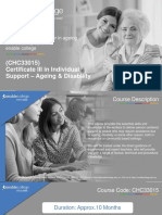(CHC33015) Certificate III in Individual Support – Ageing & Disability