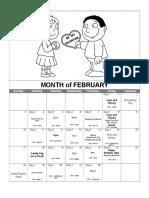 february calendar 2019