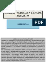 Diferencias Entre Ciencias Factuales y Ciencias Formales.