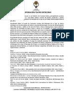 Reseña y Repertorio 2019 Corporación Teatro Bitácoras