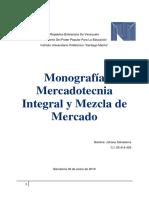 Monografía Mercadotecnia Integral y Mezcla de Mercado