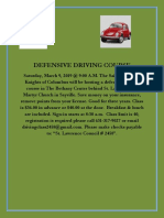 Defensive Driving Course 3-09-19