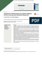 2016 Tratamiento de Fisioterapia de La Escoliosis Idiopática. Schroth Versus Gimnasia Abdominal Hipopresiva