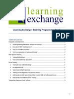 Learning Exchange Training Programmes Guide PDF (2018!08!27 04-20-05 UTC)
