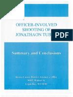 DA's Legal Decision on Jonathon Tubby