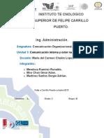 Comunicacion Organizacional. Roanldo Mendoza.u3.
