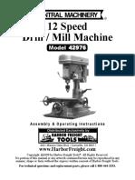 12 Speed Drill / Mill Machine Model 42976