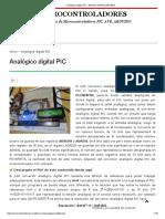 Analógico Digital Pic - Microcontroladores