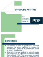 Sale of Goods Act 1930