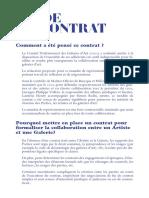 Guide Contrat Artiste / Galerie