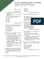 K13AR11SOS0101 Struktur & Diferensiasi Sosial