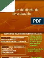 Elementos Del Dise No Del a Investigacion