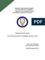 Plan de Negocios de una Empresa Educativa