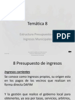 Tema 08 Estructura Presupuesto Ingresos Municipales