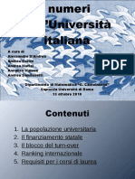 numeri universita italiana - 2010