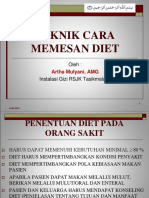 1. Teknik Cara Memesan Diet&St Diet Rs