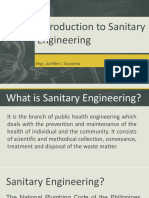 Lecture 1-Intro to Sanitary Engineering