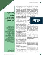 Non Destructive Techniques for Wood Quality Assesment of Plantation Grown Teak