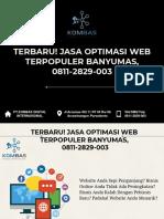 Terbaru! Jasa Optimasi Web Terpopuler Banyumas, 0811-2829-003