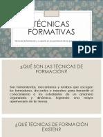 Evidencia Implementación de Técnicas Formativas