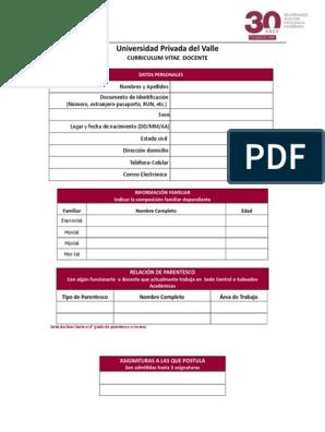 Formato Univalle Modificación De Comportamiento Plan De