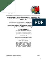 Producción de Leche de Cabra y Su Industrialización, Una Opción Para El Estado de Hidalgo