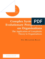 Complex Systems and Evolutionary Perspectives of o