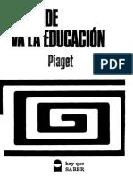 A dónde va la educación Jean Piaget.pdf