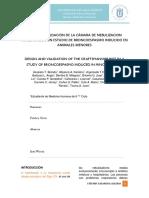 Diseño y Validación de La Cámara de Nebulizacion Artesanal en Un Estudio de Broncoespasmo Inducido en Animales Menores