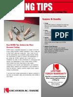 Oxyfuel cutting tips